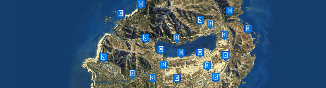 GTA Online Playing Cards Location Map